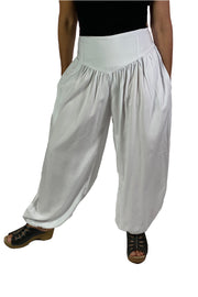 Renaissance Pants Pocket Pirate Pants White