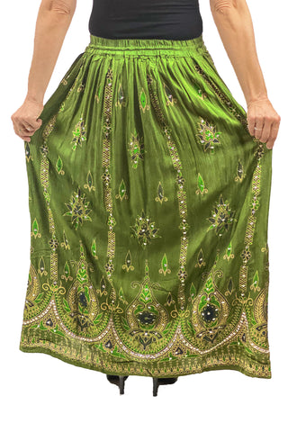 Free Size sequined full length skirt Back View