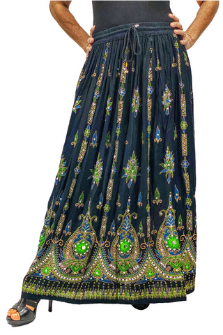 Free Size sequined full length skirt