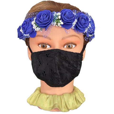 Cloth face Mask Black lace