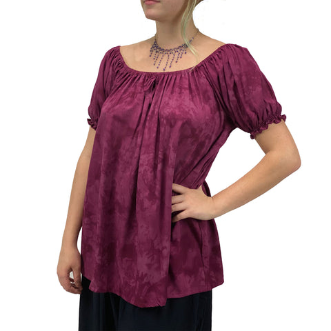 womans renaissance Top peasant top maiden Top Burgundy