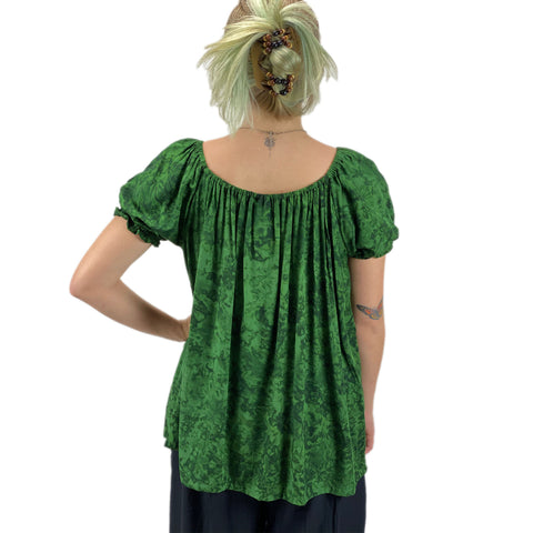 womans renaissance Top peasant top maiden Top back view