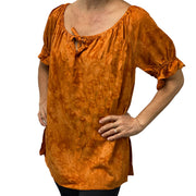 womans renaissance Top peasant top maiden Top Saffron