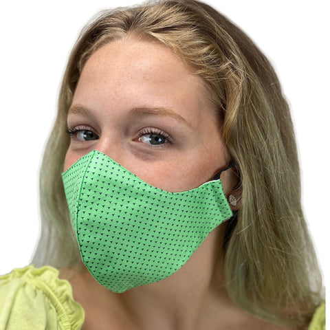 cotton masks light weight masks washable Classic Green