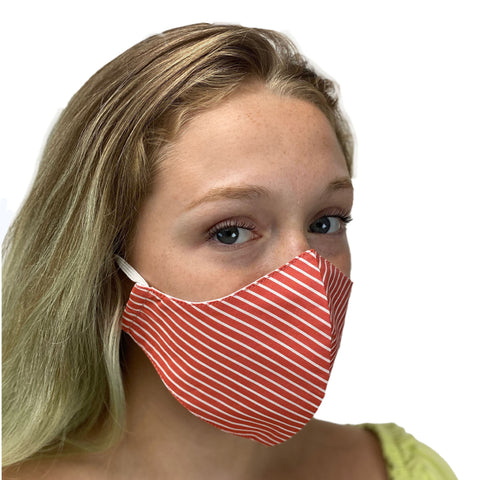 cotton masks light weight masks washa red Stripe