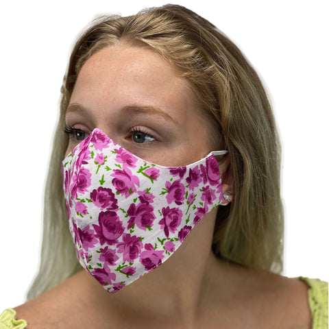 cotton masks light weight masks washable Rose