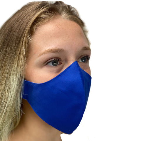 cotton masks light weight masks washable Royal Blue