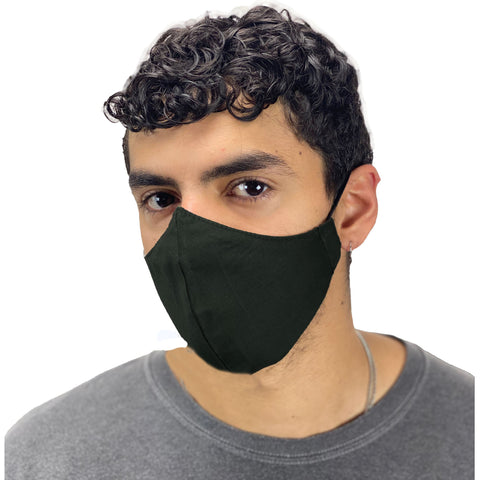 cotton masks mens Light weight masks washable Black