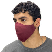 cotton masks light weight masks washable burgundy
