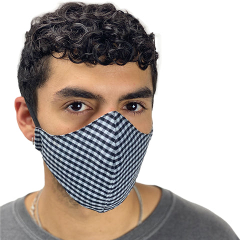 cotton masks light weight masks washable checkered