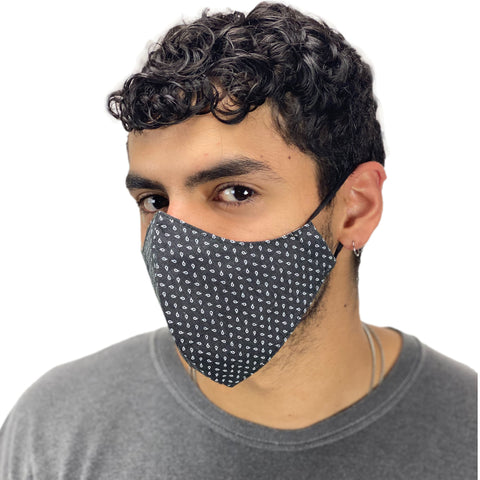 cotton masks mens Light weight masks washable Classic Black