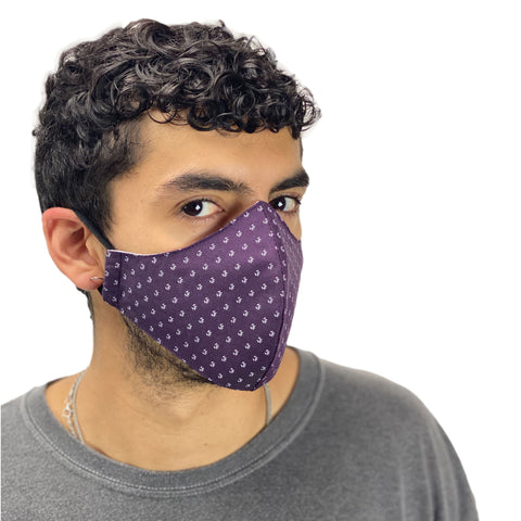 cotton masks light weight masks washable Purple