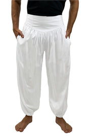 Mens cotton elastic renaissance pants Whitepirate pants