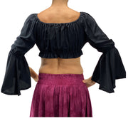 Womans Renaissance Top midriff top pirate top back view