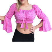 Womans Renaissance Top midriff top pirate top pink