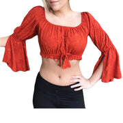 Womans Renaissance Top midriff top pirate top orange