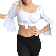 Womans Renaissance Top Belly Dance Top Pirate top White