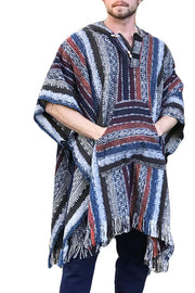 Unisex pancho one size heavy duty Black and Red