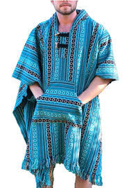 Unisex pancho one size heavy duty blue