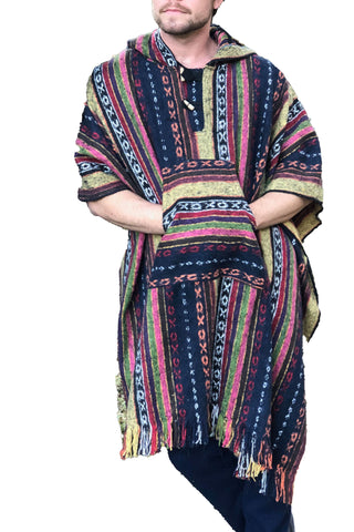 Unisex pancho one size heavy duty FIrecracker