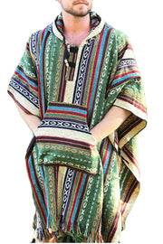 Unisex pancho one size heavy duty Green and Red