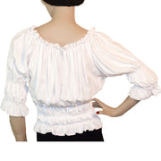 Woman's Pirate Top Renaissance Top Pirate Shirt back view