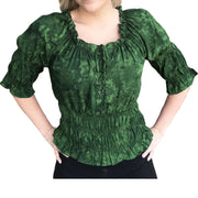 Woman's Pirate Top Renaissance Top Pirate Shirt Green