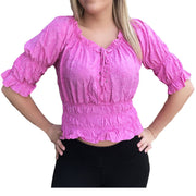 Woman's Pirate Top Renaissance Top Pirate Shirt Pink