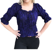 Woman's Pirate Top Renaissance Top Pirate Shirt Purple