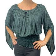 Womans renaissance top pirate top peasant top Gray