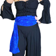 PIrate Sash Pirate Belt Long Scarf Blue