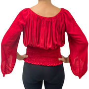 Womans renaissance top pirate top peasant top Back View