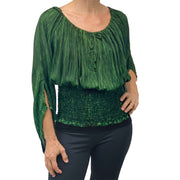 Womans renaissance top pirate top peasant top Green