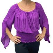 Womans renaissance top pirate top peasant top Lilac
