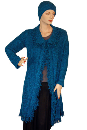 Womans knit sweater Acrylic wool sweater Blue