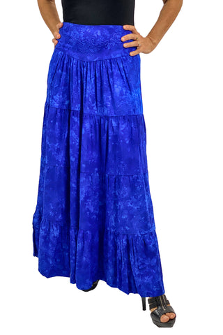 Renaissance hoop skirt with elastic waist Blue