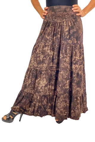 Renaissance hoop skirt with elastic waist Brown
