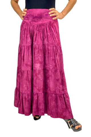 Renaissance hoop skirt with elastic waist Burgundy