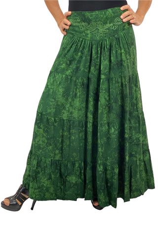 Renaissance hoop skirt with elastic wai greenst