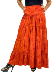 Renaissance hoop skirt with elastic waist Orange