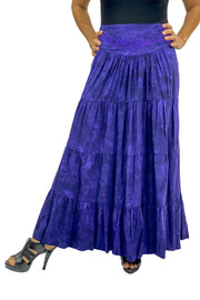 Renaissance hoop skirt with elastic waist Purple