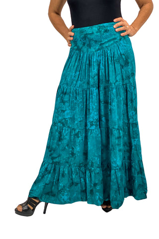Renaissance hoop skirt with elastic waist Teal
