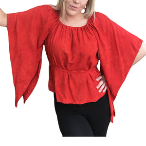 Woman's Renaissance Top Victorian Top Red
