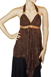 Renaissance Top Halter Top brown