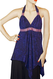 Renaissance Top Halter Top Purple
