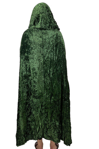 Renaissance Cloak cape Hooded cloak back view
