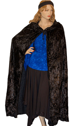 Renaissance Cloak cape Hooded cloak black