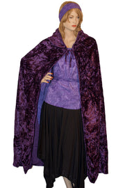 Renaissance Cloak cape Hooded cloak  purple