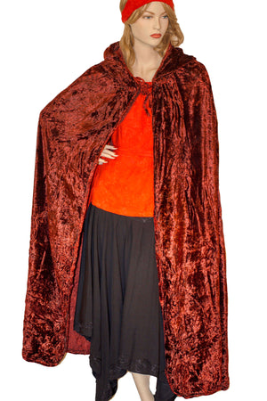 Renaissance Cloak cape Hooded cloak Red