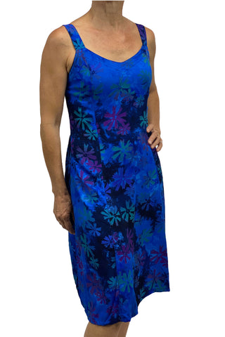 Sun Dress batik Dress cruisewear Blue